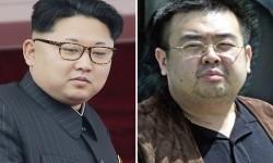 Foto kombinasi Pemimpin Korea Utara Kim Jong-un dan Saudara seayah Kim Jong-nam