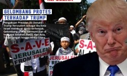 Protests against US President Donald Trump's decision which recognized Jerusalem as Israel's capital.