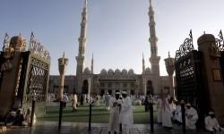 Jamaah haji di kawasan Madinah.