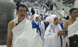 Jamaah haji Indonesia di Tanah Suci. (ilustrasi).