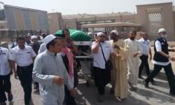 Jenazah Lukmanul Hakim Yakub, sopir mobil Tim Media Center Haji (MCH) Madinah, saat hendak dimakamkan Pemakaman Baqi (Ilustrasi)
