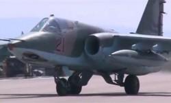 Jet tempur Rusia yang melakukan serangan udara di Suriah.