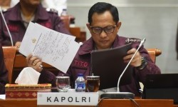 National Police Chief, Tito Karnavian, attended a hearing in the Parliament Building, Jakarta on Tuesday (May 23).