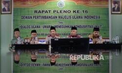 Dialog Kapolri Jenderal Tito Karnavian dengan Dewan Pertimbangan MUI di kantor MUI, Jakarta, Selasa (21/3).