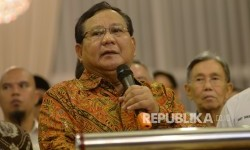Ketua Dewan Pembina Partai Gerindra Prabowo Subianto.