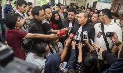 Head of prosecutors team in blasphemy case with Basuki Tjahaja Purnama as the defendant, Ali Mukartono, made a statement to the reporters.