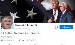 Laman akun resmi Donald Trump