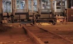 Lokasi kejadian ledakan bom di terminal Kampung Melayu, Jakarta Timur.