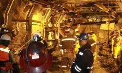 Lokasi kejadian longsor di Terowongan Big Gossan, PT Freeport Indonesia, Tembagapura, Timika, Papua.