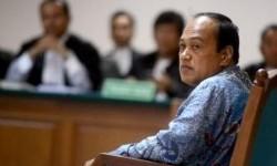 Mantan Kepala Korps Lantas Kepolisian RI, Irjen Pol Djoko Susilo menjalani sidang di Pengadilan Tindak Pidana Korupsi, Jakarta Selatan, Selasa (23/4).