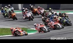 Marc Marquez memimpin start pada MotoGP Austria di Sirkuit Spielberg Ring, Austria, Ahad (13/8) malam.