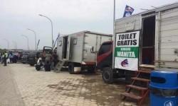 Mengantisipasi membeludaknya kebutuhan pemudik dalam urusan toilet, rest area km 86 tol Cipali menambah penyediaan toilet dengan toilet mobil.