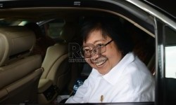 Indonesia's Minister of Forestry and Environment Siti Nurbaya. (Republika/Raisan Al Farisi)