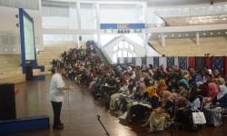Pameran pendidikan dan beasiswa AS, di UMM Dome.