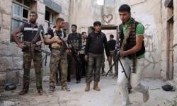 Rebel groups fighting the government of Syrian President Bashar al-Assad.