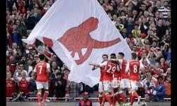 Pemain Arsenal merayakan kemenangan (ilustrasi)