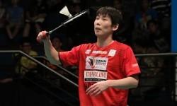 Pemain tunggal pertama Musica Champions, Son Wan Ho dari Korea yang cedera saat berlaha di babak final Djarum Superliga Badminton 2017, Ahad (26/2).
