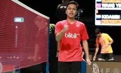 Pemain tunggal putra Indonesia, Anthony Sinisuka Ginting.