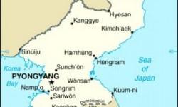 Peta Korea Utara dan tetangganya