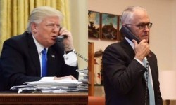 Presiden Donald Trump dan PM Malcolm Turnbull.