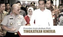 Presiden Instruksikan Polri Tingkatkan Kinerja