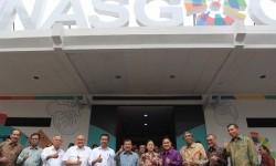 Rapat pleno persiapan Asian Games 2018 digelar di Kantor INASGOC, Wisma Serbaguna, Senayan, Jakarta, Selasa (18/7).