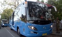 [ilustrasi] Salah satu Bus Rapid Trans (BRT) saat resmi di operasikan, Makassar, Sulawesi Selatan. BRT juga akan menjadi moda transportasi di Kabupaten Bandung, Jawa Barat.
