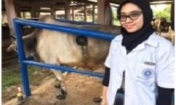 Sari Putri Dewi, calon doktor muda dari Fakultas Peternakan IPB.