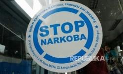 Stiker stop narkoba (ilustrasi)