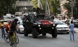 Sebuah tank berada di Kota Ankara, Turki, Jumat, 22 Juli 2016. Turki berada dalam status darurat usai kudeta yang gagal.
