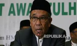 Sekjen Kemenag Nur Syam menyampaikan penjelasannya pada acara jumpa pers sidang Isbat awal Zulhijjah 1438 H, di Jakarta, Selasa (22/8) malam.