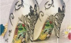 sepatu yang terinspirasi dari Beauty and the beast