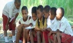 Siswa sekolah di Papua