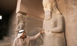 Situs Kota Asiria kuno, Nimrud yang terletak di Irak utara, dihancurkan ISIS.