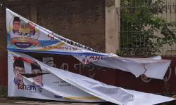 [ilustrasi] Spanduk Pasangan Calon Wali Kota di Sukabumi Dirusak