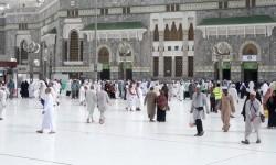Suasana di depan Masjidil Haram, Makkah