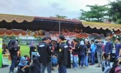 Suasana karnaval yang digelar di Universitas BSI Bandung.