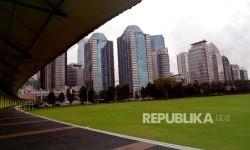 Suasana lapangan golf Senayan, Jakarta, Rabu (24/2).  (Republika/Yasin Habibi)