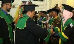 Suasana wisuda UIN Ar-Raniry, Banda Aceh, Selasa (22/8).