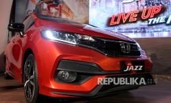 Tampilan New Honda Jazz RS pada peluncuran model baru New Honda Jazz di Kawasan SCBD, Jakarta, Rabu (26/7).