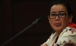 Terdakwa kasus dugaan pemberian keterangan palsu dalam sidang kasus KTP Elektronik Miryam S Haryani menjalani sidang lanjutan di Pengadilan Tipikor, Jakarta, Senin (21/8).