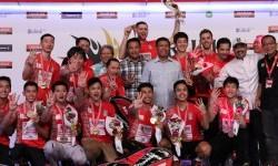 Tim putra Musica Champions menjuarai Djarum Superliga keempat kalinya. Di Djarum Superliga Badminton 2017, Musica Champions mengalahkan PB Djarum Kudus 3-2 di DBL Arena Surabaya, Ahad (26/2).