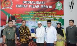 Wakil Ketua Majelis Permusyawaratan Rakyat Republik Indonesia (MPR RI) H. Mahyudin saat menghadiri Sosialisasi Empat Pilar di Samarinda.