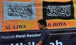 Warga melintas di depan Kantor DPD II Hizbut Tahrir Indonesia (HTI) Kabupaten Ciamis, Jawa Barat, beberapa waktu lalu.
