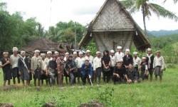 Warga Suku Baduy di Kabupaten Lebak, Provinsi Banten.