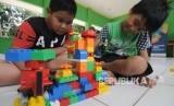 In Picture: RPTRA Taman Sawo Sediakan Permainan Lego untuk Anak-Anak