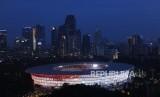 Wajah Baru Stadion Utama Gelora Bung karno (SUGBK) usai dilakukan renovasi untuk Asian Games 2018, Jakarta, Sabtu (13/1).