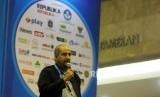 Ketua Panitia Islamic Book Fair (IBF) 2018 M. Anis Baswedan memberikan sambutan saat penutupan IBF 2018 di Jakarta Convention Center, Jakarta, Ahad (22/4).