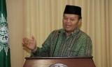 Wakil Ketua MPR Hidayat Nur Wahid saat sosialisasi empat pilar kebangsaan dengan tema Indonesia Harmoni di gedung Pusat Dakwah Muhammadiyah, Jakarta, Rabu (25/3).  (foto : MgROL_37)