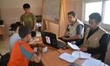 Anak-anak Gaza saat mendaftar lomba tahfidz Alquran yang diadakan MER-C